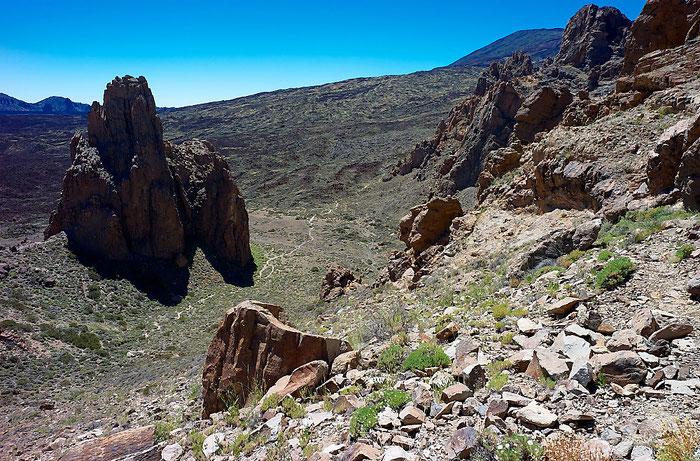 Bizarre Felsformation bei den Los Roques de Garcia im Teide-Nationalpark. Landschaftsfoto mit Leica M9 und 21 mm Zeiss Biogon. Foto: Klaus Schoerner