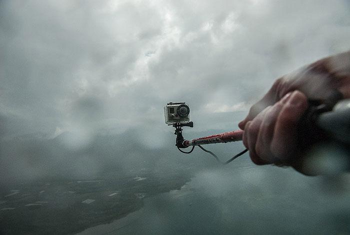 Test: Die GOPRO ist bei dem sich stetig verschlechternden Wetter in ihrem Element. Foto: Klaus Schoerner