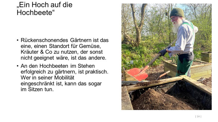 """Foto: Petra Schweim (Appelbarg) - """"Ein Hoch auf die Hochbeete"""" - Gartenbotschafter John Langley®"""