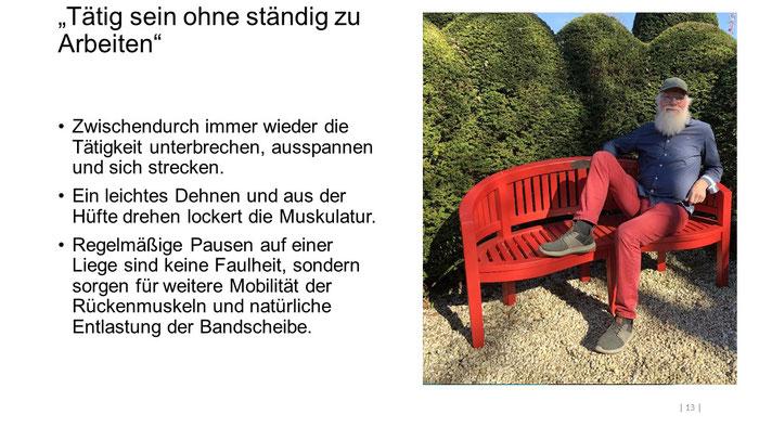 """Foto: Petra Schweim (Appelbarg) - """"Tätig sein ohne ständig zu Arbeiten"""" - Gartenbotschafter John Langley®"""