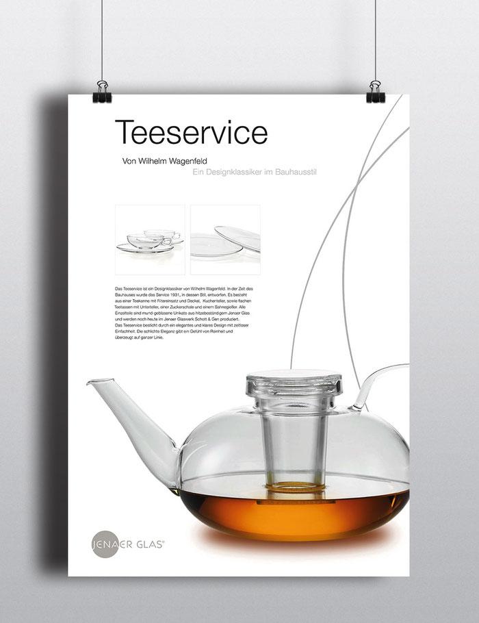 Teeservice Plakat