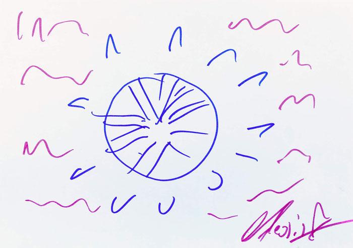"""Zeichnung von Alessio - """"Tanz deinen Schmerz weg"""""""