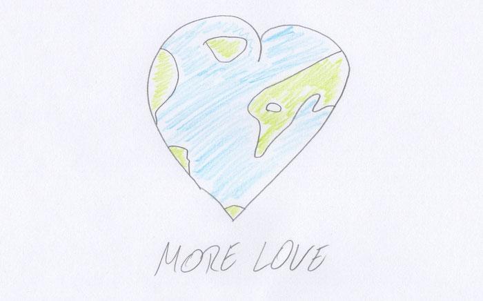 """Noahs Zeichnung: """"Wie sieht eine bessere Welt für dich aus?"""""""