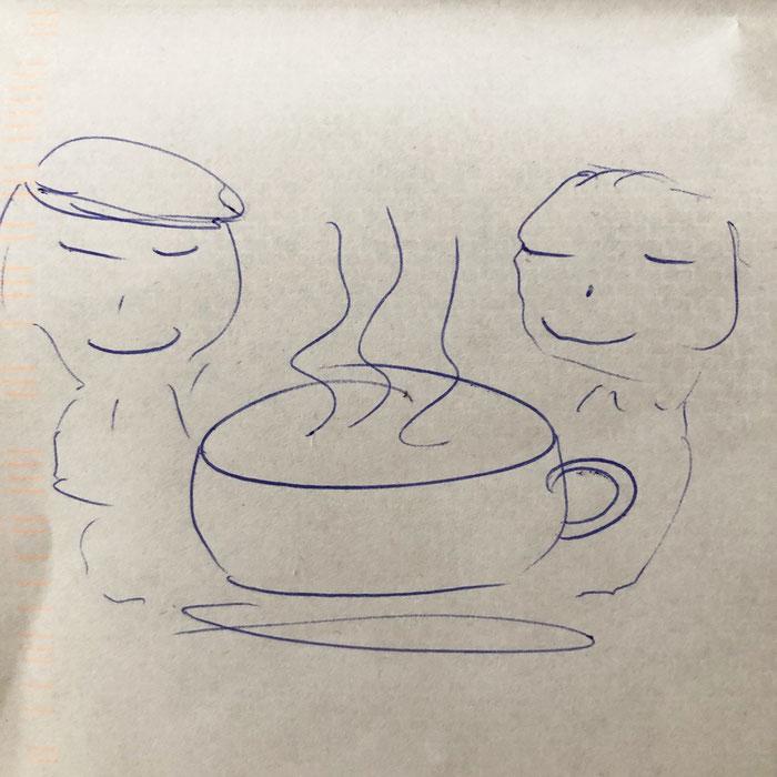 """Zeichnung von Sinan: """"Wofür bist du dankbar im Leben?"""""""