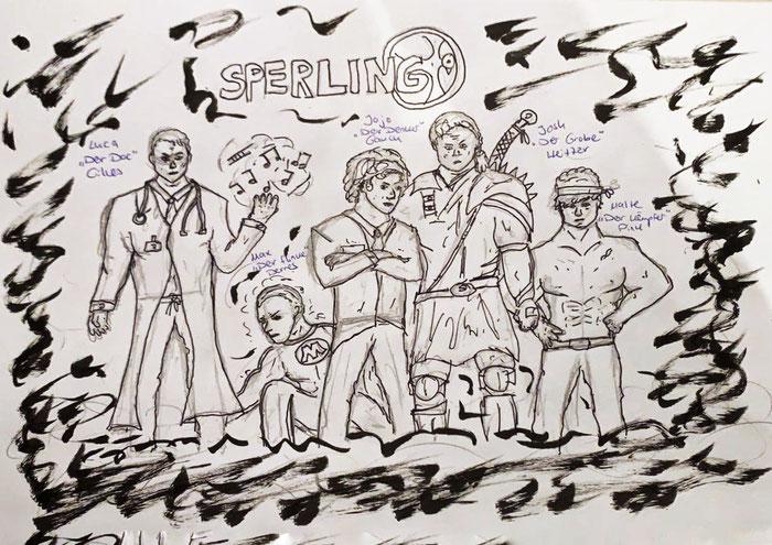 Zeichnung von SPERLING-Sänger Jojo