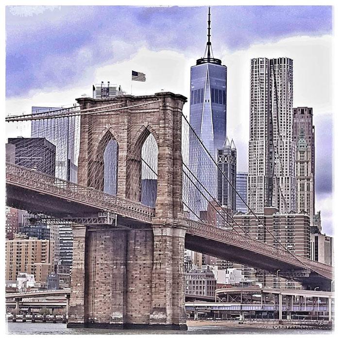 New York, Brooklyn Bridge, Oktober 2017
