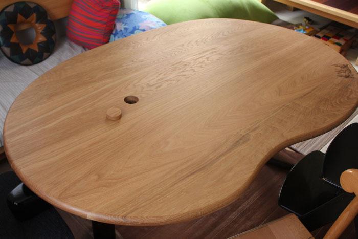 そら豆ダイニングテーブル(さいたま市・I様邸)
