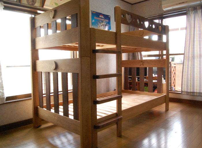 ツートンカラーが楽しい二段ベッド(小田原市・I様邸)