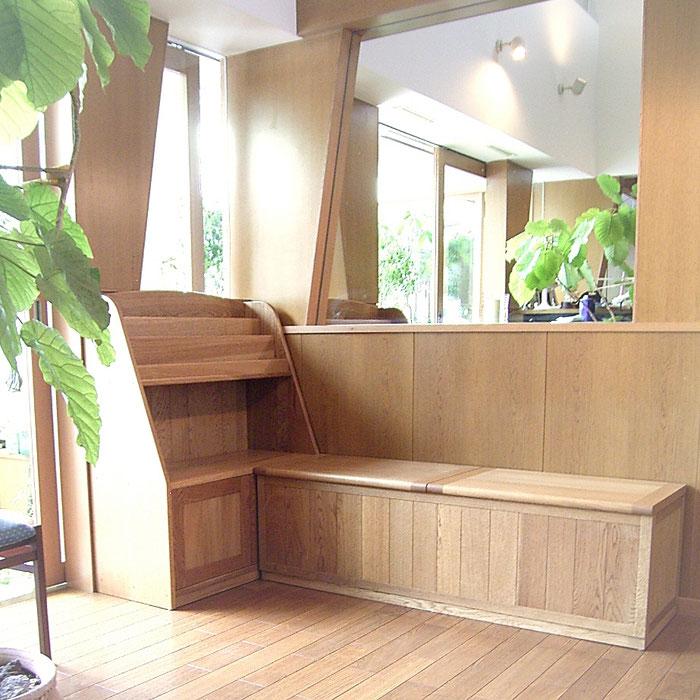 収納ベンチ&ブックシェルフ(横浜市・G様邸)