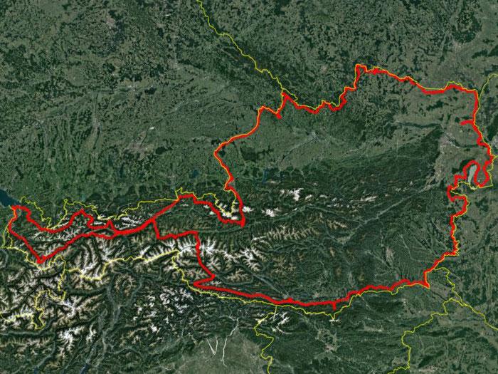 GPS-Track der gesamten gefahrenen Strecke über 2590 km