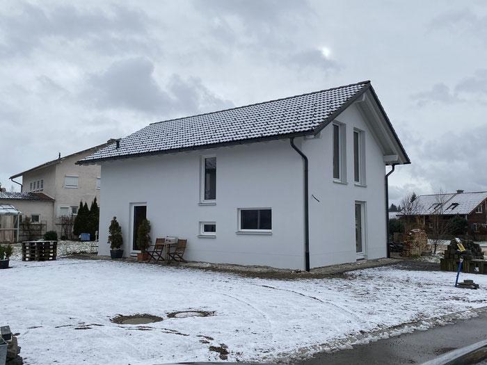 BV: Lauben/Heising Rohbau EFH mit sichtbarer Dachkonstruktion