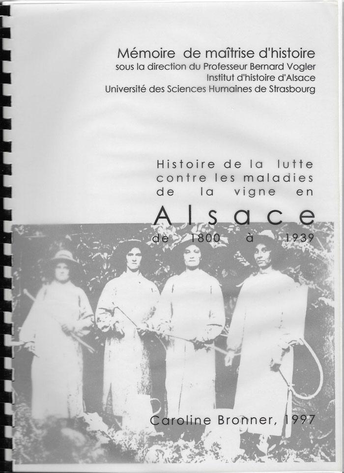 Histoire de la lutte contre les maladies de la vigne en Alsace de 1800 à 1939