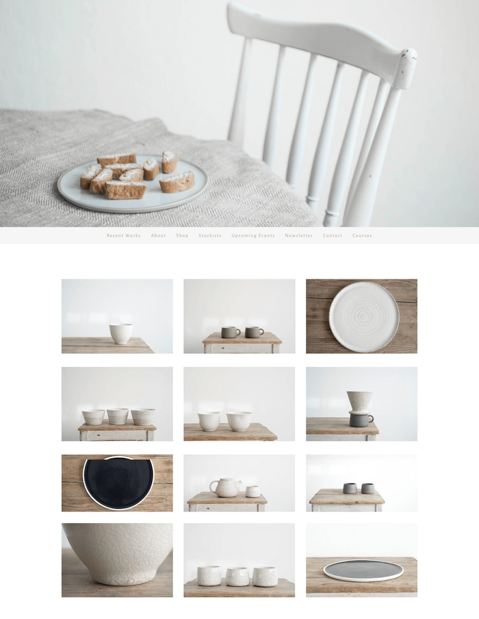 Sun Tree Studio pottery website