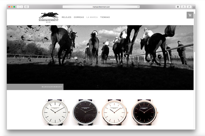 Elegant website layout