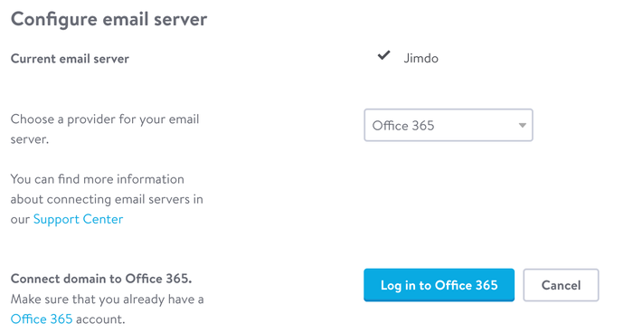 Connect your domain to an email server