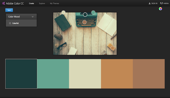 Adobe Color CC to match colors from a photograph