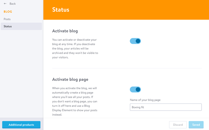 Activate or de-activate your blog on Jimdo
