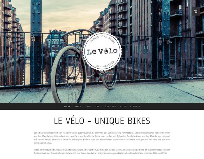 Le Velo website