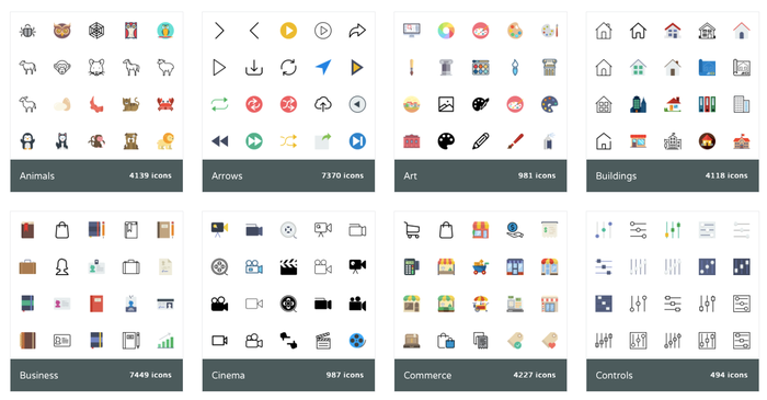 Icons for your website