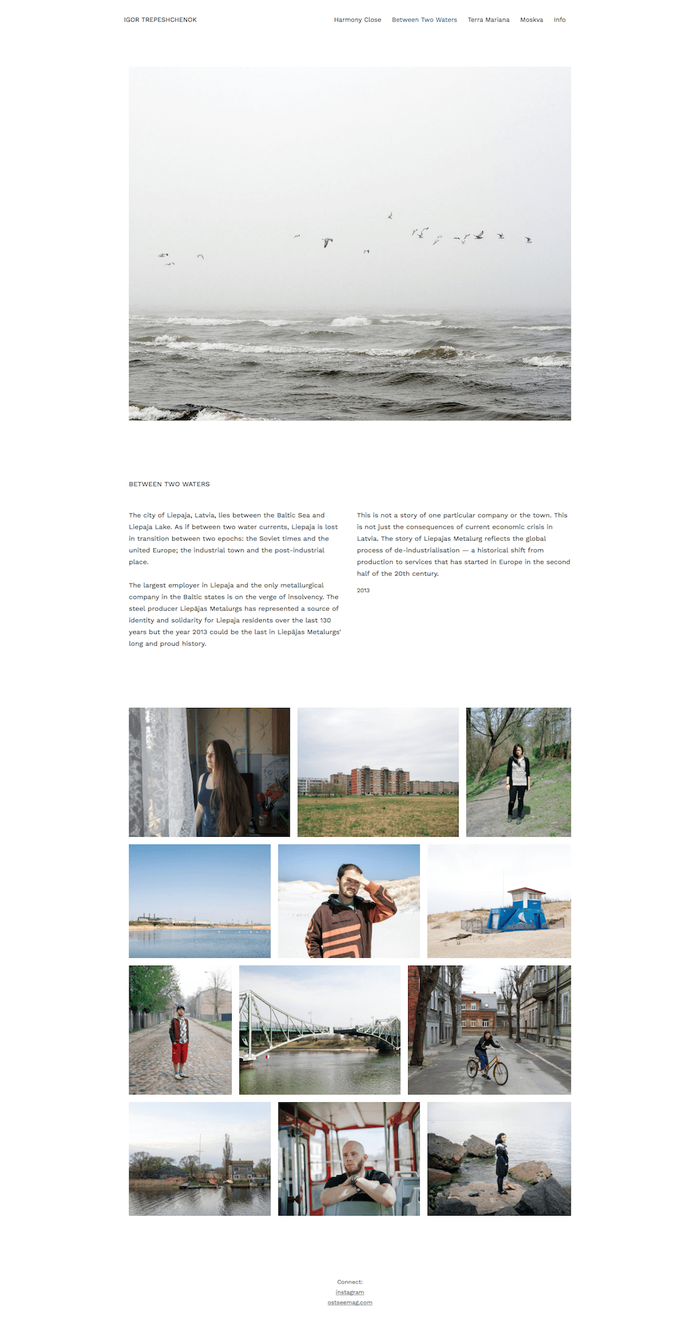 Igor Trepeshchenok Photography Website