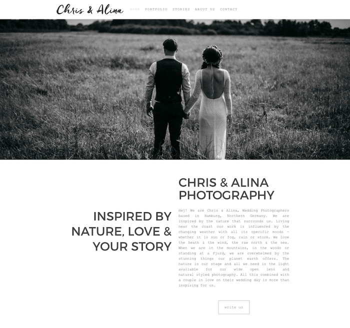 Chris & Alina fotografie website