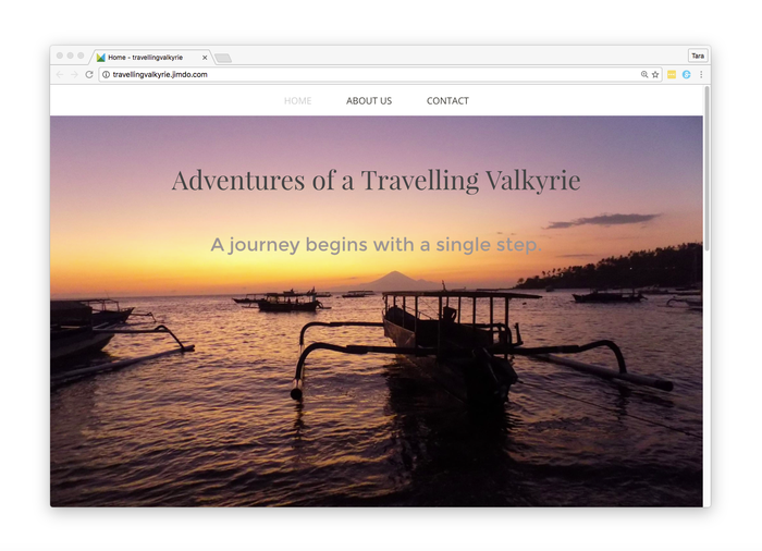 Jimdo voorbeeld reisblog met design Shanghai