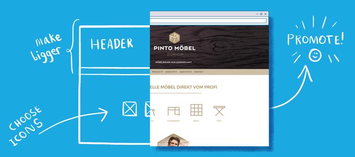 Verbeter de doorklik ratio en bounce ratio op je Jimdo website.