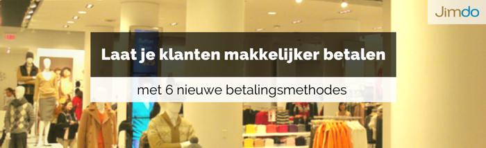 Jimdo webwinkel betaalmethodes