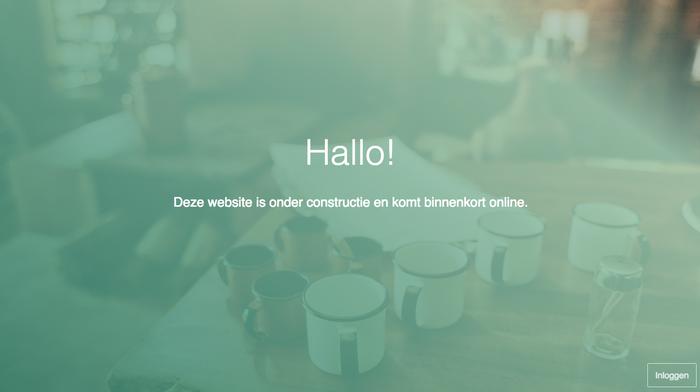 Jimdo website onder constructie