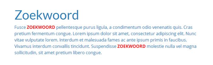 Verwerk zoekwoorden in de tekst op je website
