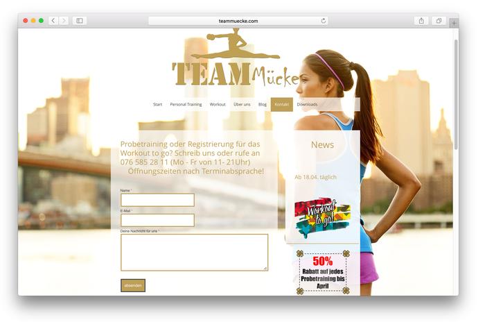 Über das Kontaktformular kann man sich bei Team Mücke schnell und unkomplizert für ein Probetraining anmelden.
