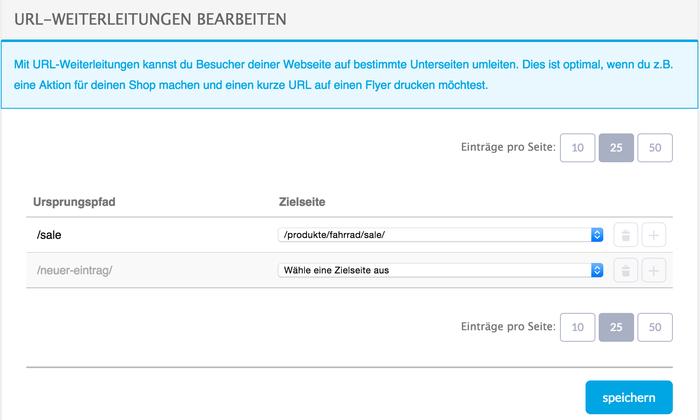 URL-Weiterleitungen