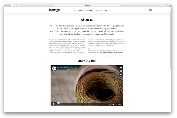 """Das Team von """"konigs.ch"""" nutzt ein Video, um sich den Kunden vorzustellen."""