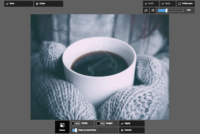 Ridimensiona le immagini usando Pixlr