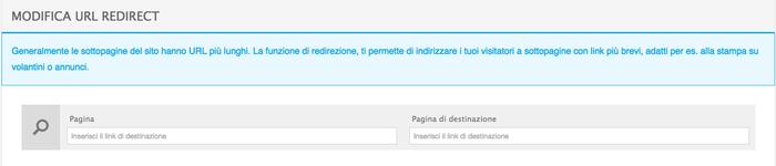 Funzione URL redirect.