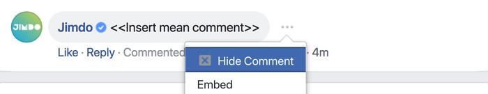 Nascondere i commenti su Facebook