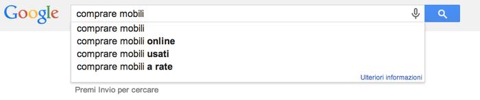 Screenshot esempio di ricerca su Google