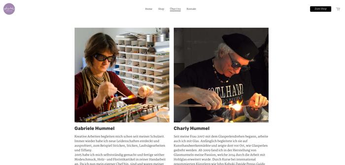Esempio shop online creato con Jimdo