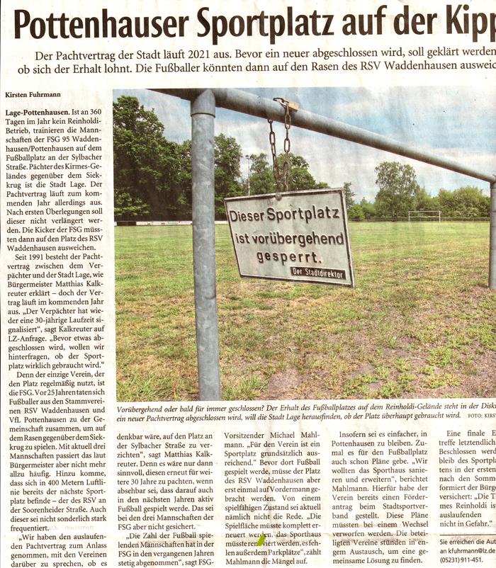 Quelle: Lippische Landes-Zeitung vom 19.05.2020