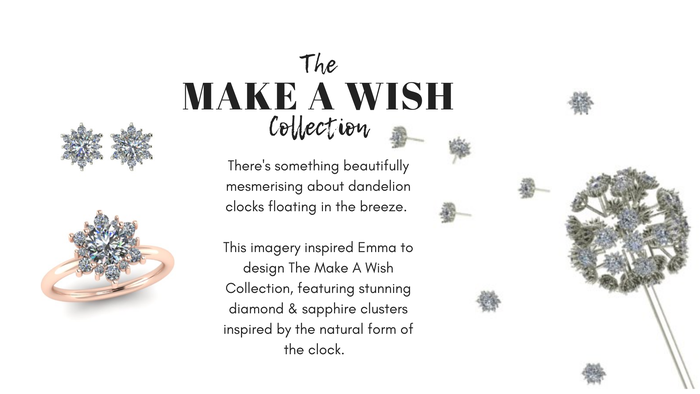 The Make A Wish Collection, Nature Inspired Jewellery, Sapphire & Diamonds