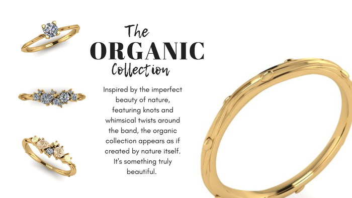 The Organic Collection, wedding and engagement rings Inspired by Nature Emma Hedley Jewellery