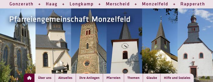 Webseite der Pfarreiengemeinschaft Monzelfeld