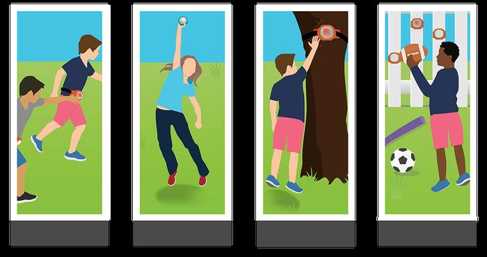 Idées de jeu avec le ROXs poursuite. Jeu pour enfants et adolescents de mobilité à acheter pas cher.