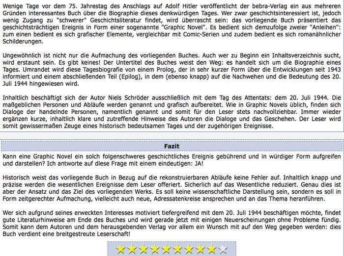 """In Hamburg wird die Graphic-Novel """"20.Juli_1944.Biographie_eines_Tages"""" von Niels Schröder präsentiert. Bewerten Sie sie positiv - denn jede_Stimme_zählt."""