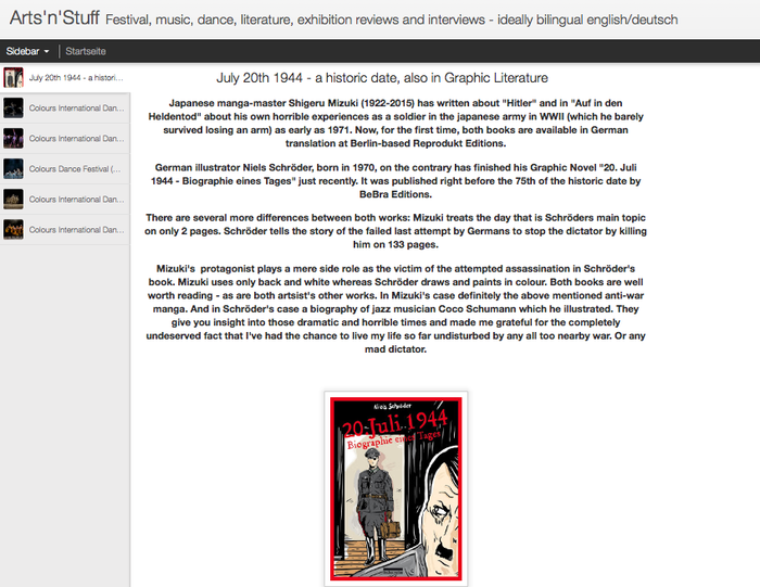 English article about the new graphic-novel by Niels-Schroeder about the attempt to kill Hitler on July 20th 1944.