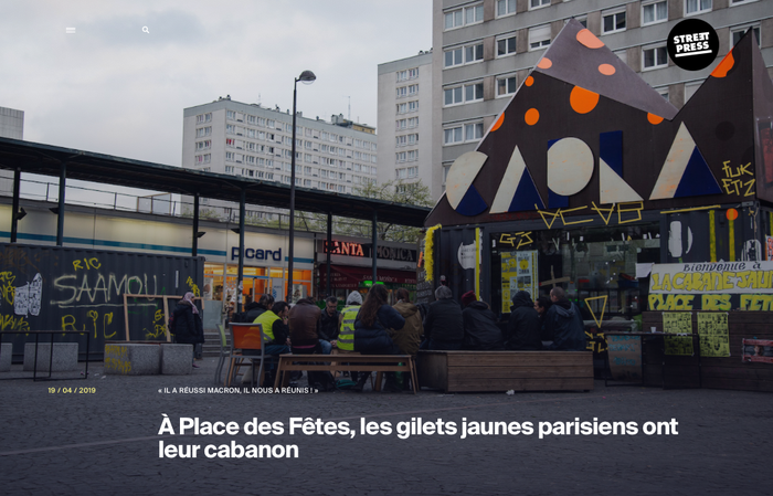 A place des fêtes, les gilets jaunes parisiens ont leur cabanon