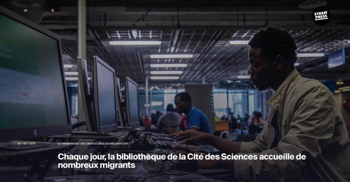 Reportage pour streetpress, la cité des sciences accueille des réfugiés, Léo Derivot