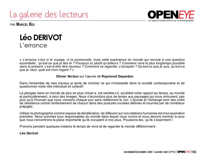 Publication Openeye 2020 Léo Derivot
