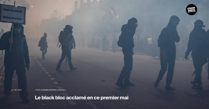 Article pour streetpres 1er Mai 2019, Léo Derivot