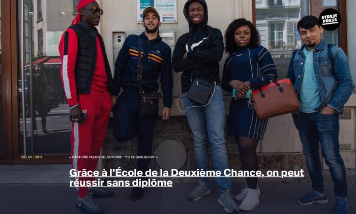 Ecole de la seconde chance, reportage Streetpress Léo Derivot